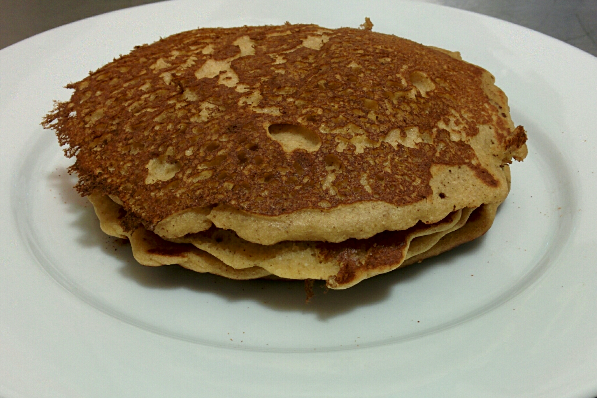 Plain coconut & buckwheat pancakes